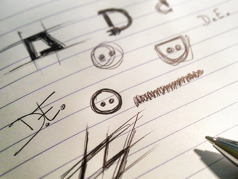 Sketching the logo